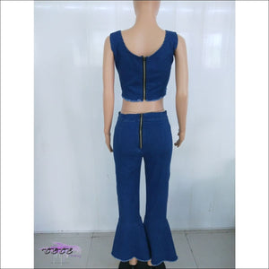 Im A Brickhouse Two Piece Jeans Set