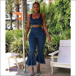 Im A Brickhouse Two Piece Jeans Set S
