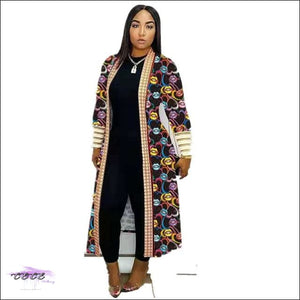 'Im Just Showin Off' Long Threaded Thick Long Cardigan lips coat / L