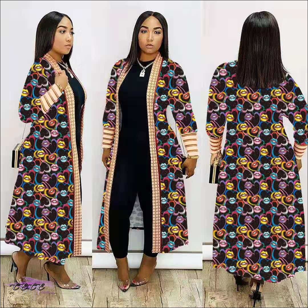 'Im Just Showin Off' Long Threaded Thick Long Cardigan
