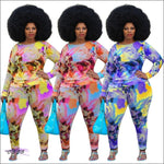 'Im So Feeling Myself' Tie Dye Two Piece Tracksuit