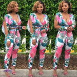 Im So Sexy Tropical Leaf Floral Print Two Piece Set