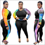 'Imma Ultra Curvy Gal' Two Piece Tracksuit Set colorful / 1X / United States
