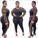 'Imma Ultra Curvy Gal' Two Piece Tracksuit Set leopard / L / United States