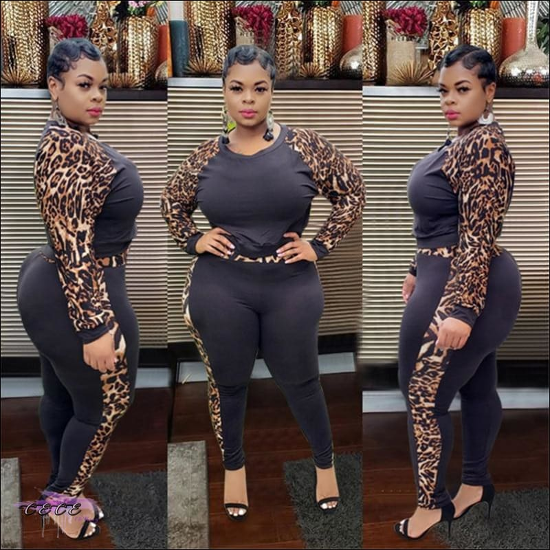 'Imma Ultra Curvy Gal' Two Piece Tracksuit Set