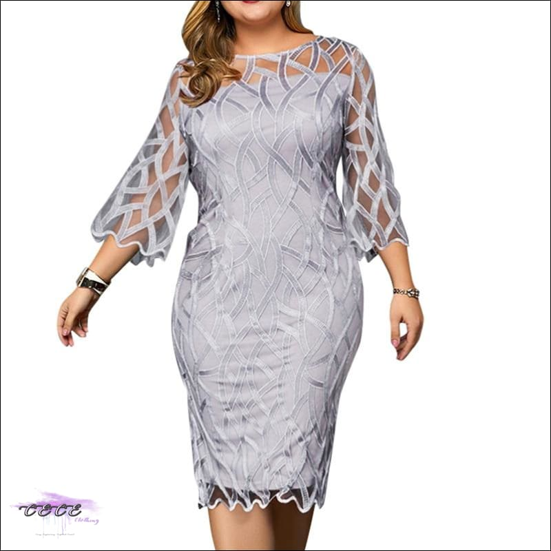 Kill Em With Class Gray Lace Dress