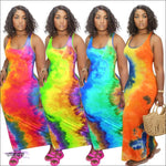 'My Curves Are In Vogue' Tie Dye Maxi Dress