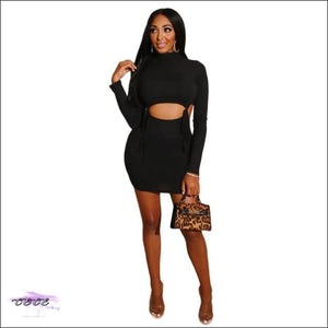 Oooo Wee Wee Hollow Out 2 Piece Set Skirt Black / S