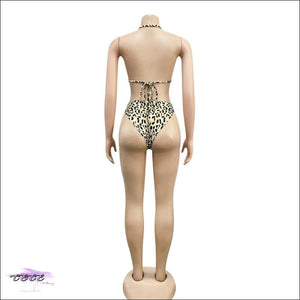 'Sexy On Da Beach' Leopard Zebra Print 3 Piece Set