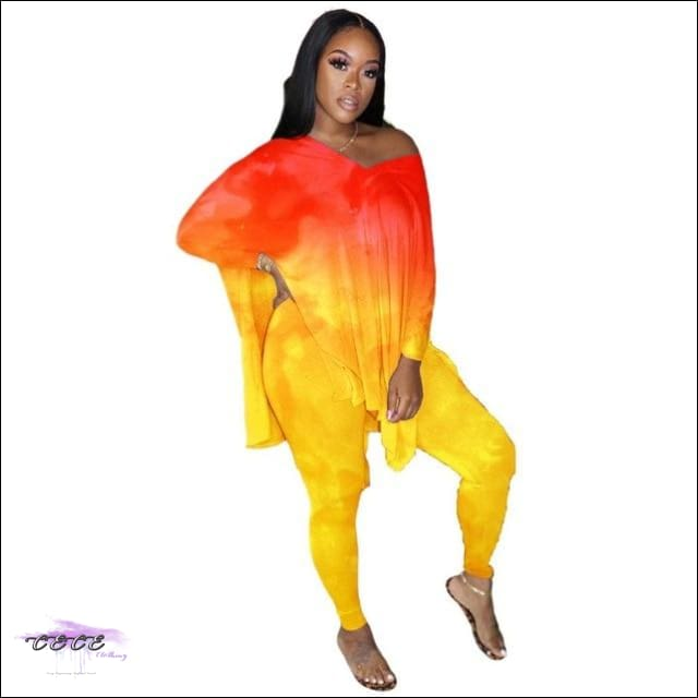'Sexy Year Round' Flipping Color Two Piece Set red yellow / M