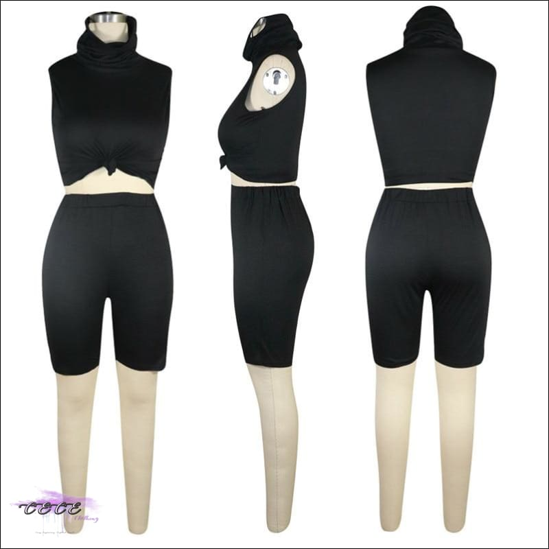 'Staying Safe & Sexy' Sleeveless Two Piece Tracksuit Set (With Mask)