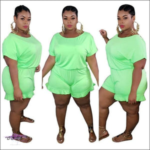 'Staying Thick Is A Must' Solid Plus Size Jumpsuit green jumpsuit / 1X / United States