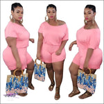 'Staying Thick Is A Must' Solid Plus Size Jumpsuit pink jumpsuit / 1X / United States
