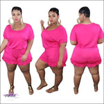 'Staying Thick Is A Must' Solid Plus Size Jumpsuit rosy jumpsuit / 1X / United States