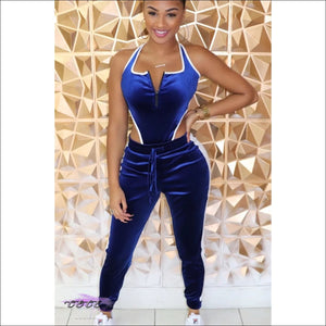Sweet Curves Velvet Two Piece Tracksuit