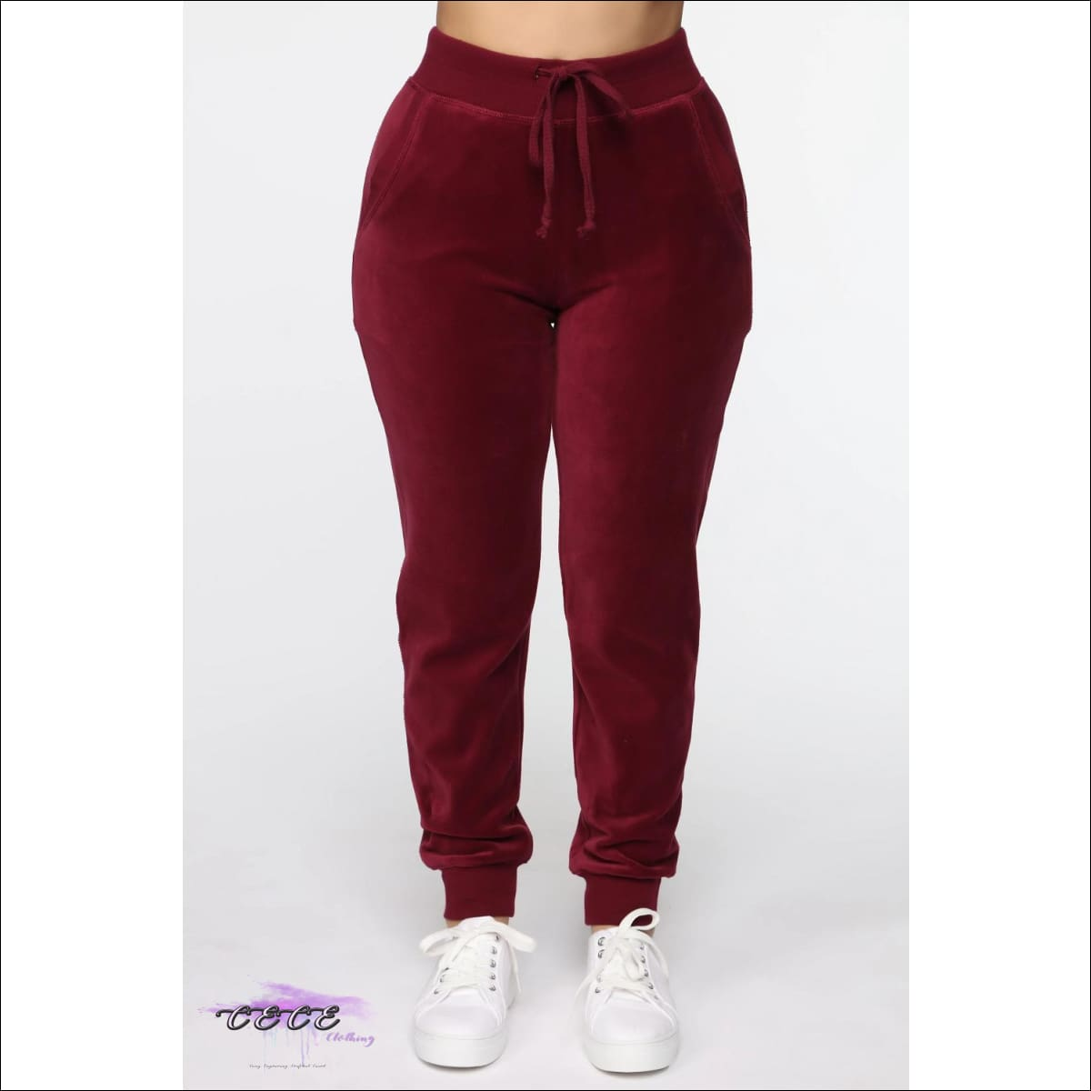 Tasty As Red Velvet Cake Two Piece Red Velour Tracksuit