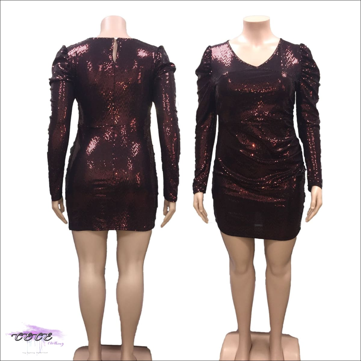 These Curves Are Captivating Maroon Glitter Mini Dress 6X