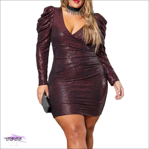 These Curves Are Captivating Maroon Glitter Mini Dress