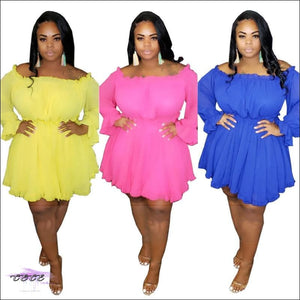 Thick-Wit-It Off-Shoulder Slash Dress