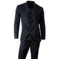 Men's Black Slim Fit 3 Piece 2 Button Suit - Trinity Robes
