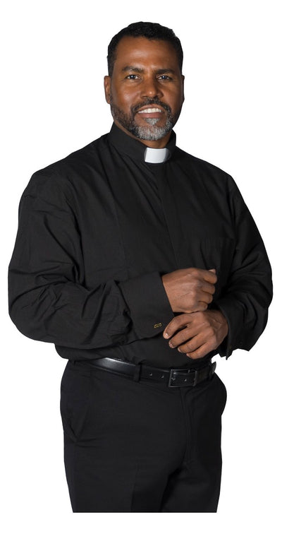 Clergy Dress Shirt French Cuff Tab Collar & Cuff Links - Trinity Robes
