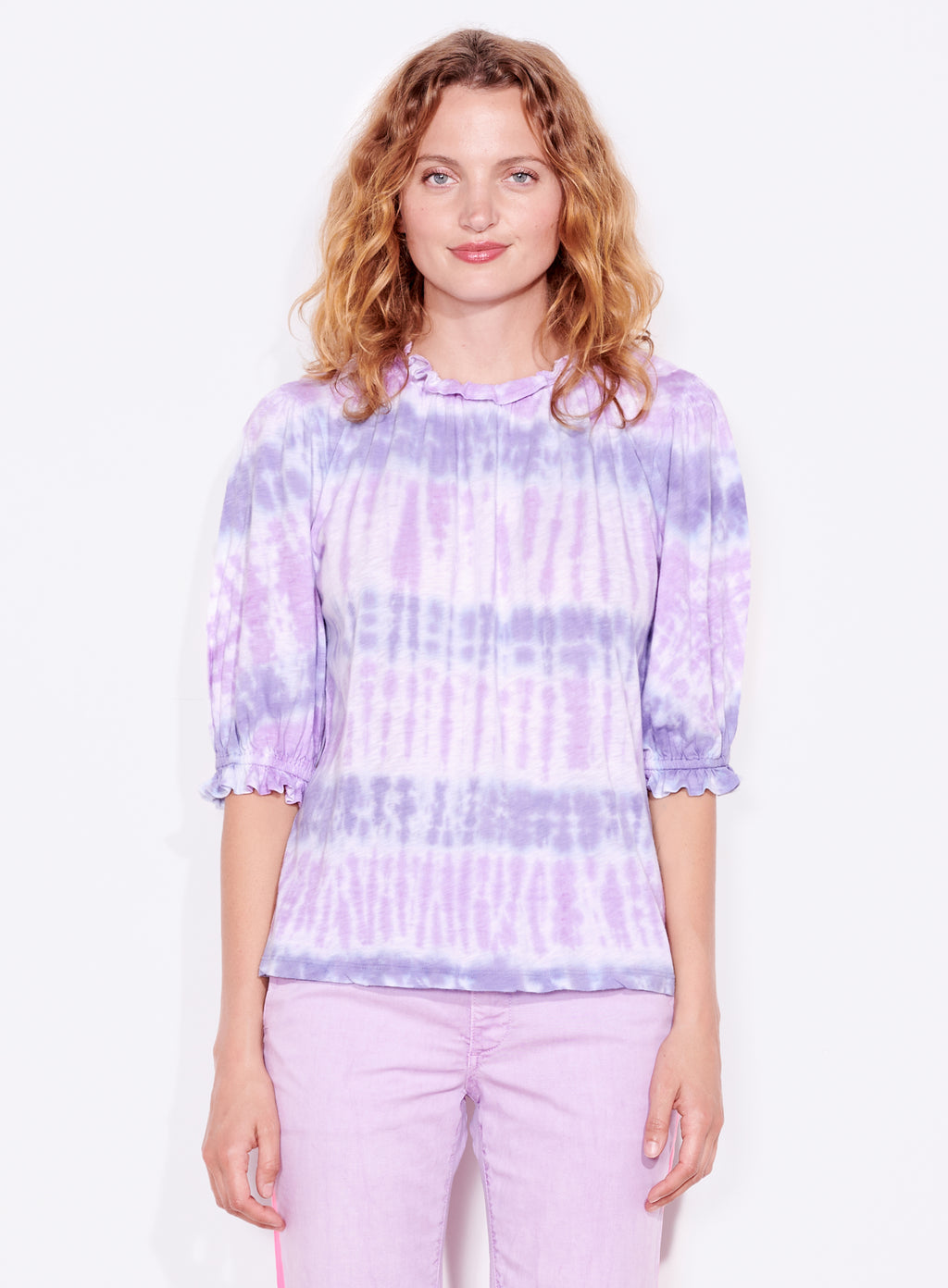 Bubble Sleeve Top - Tie Dye