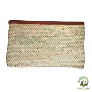 Classic Straw Clutch - Brown