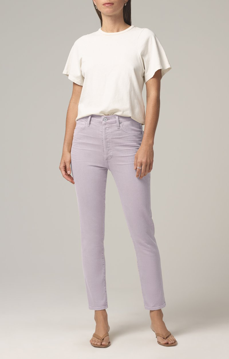 Olivia High Rise Slim Ankle - French Lavender