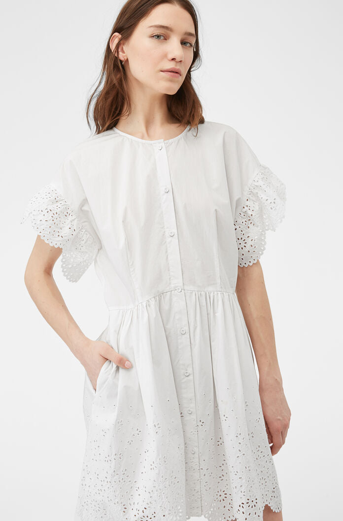 La Vie Etienne Eyelet Dress - White