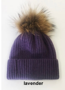 Linda Richards Pom Hat Lavender