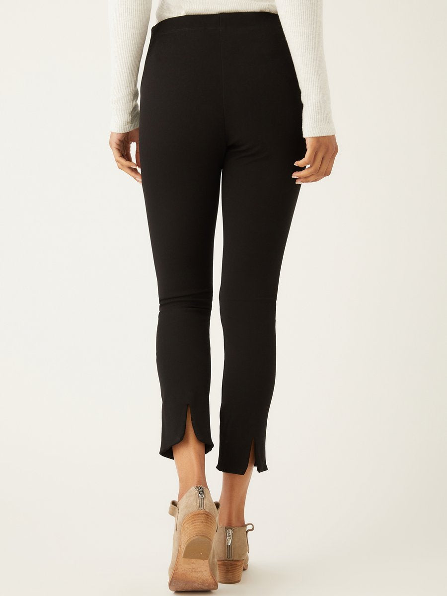 Ankle Slit Pant - Black