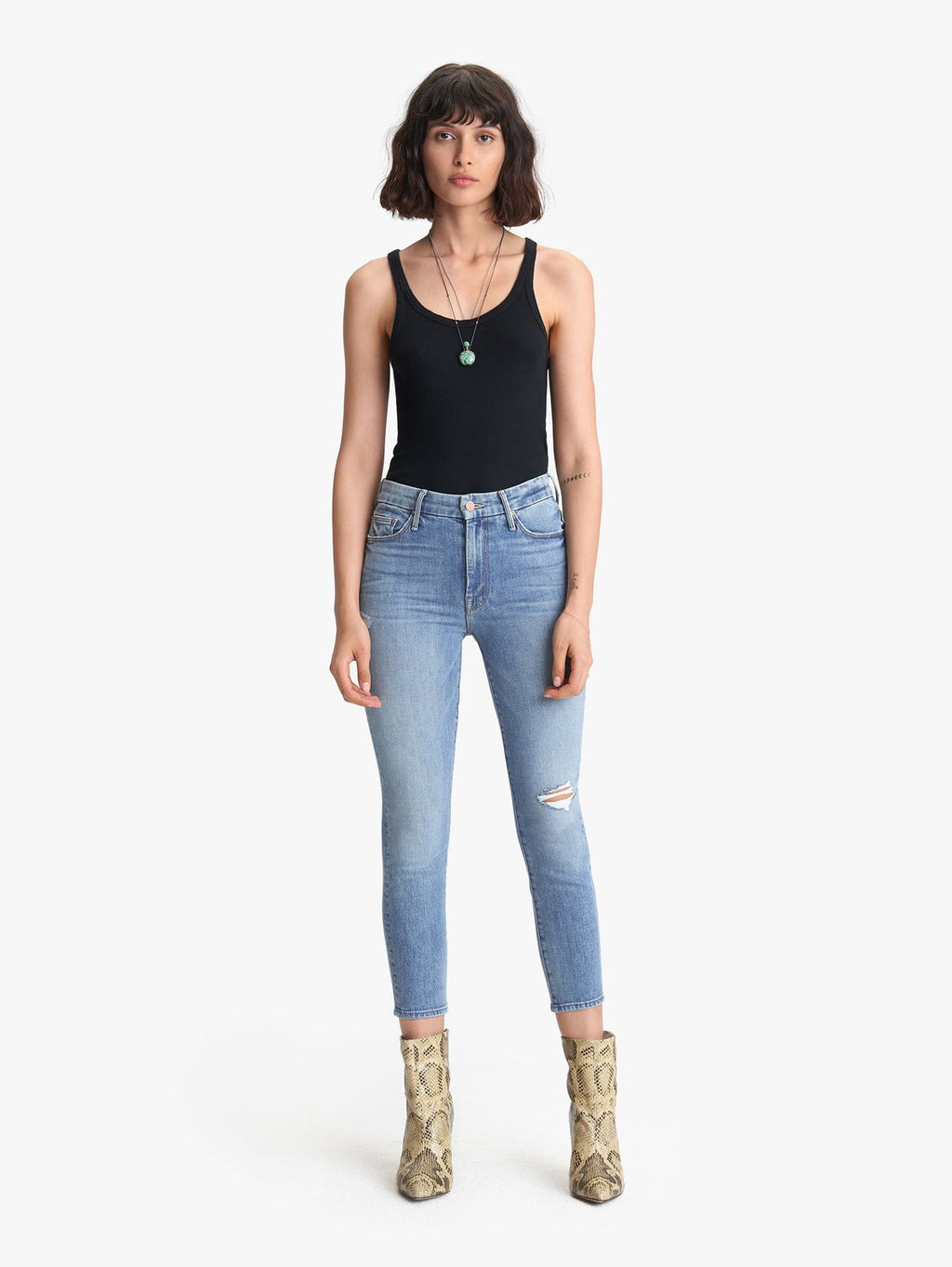 The High Waisted Looker Crop - Let's Kick It