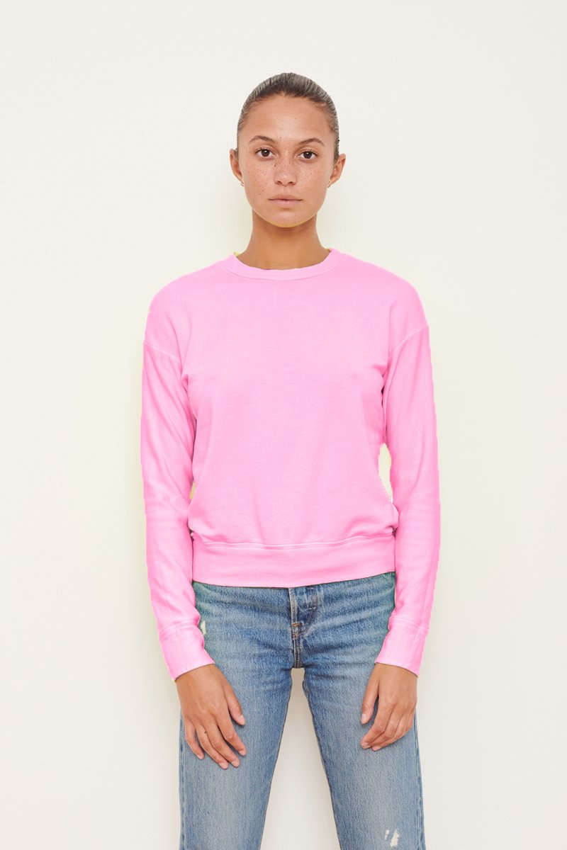 Viscose Fleece Pullover - Neon Pink