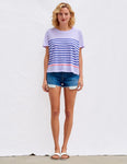 Pop Stripes Vintage Tee