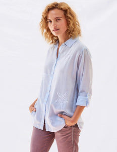 Star Embroidered Oversized Shirt