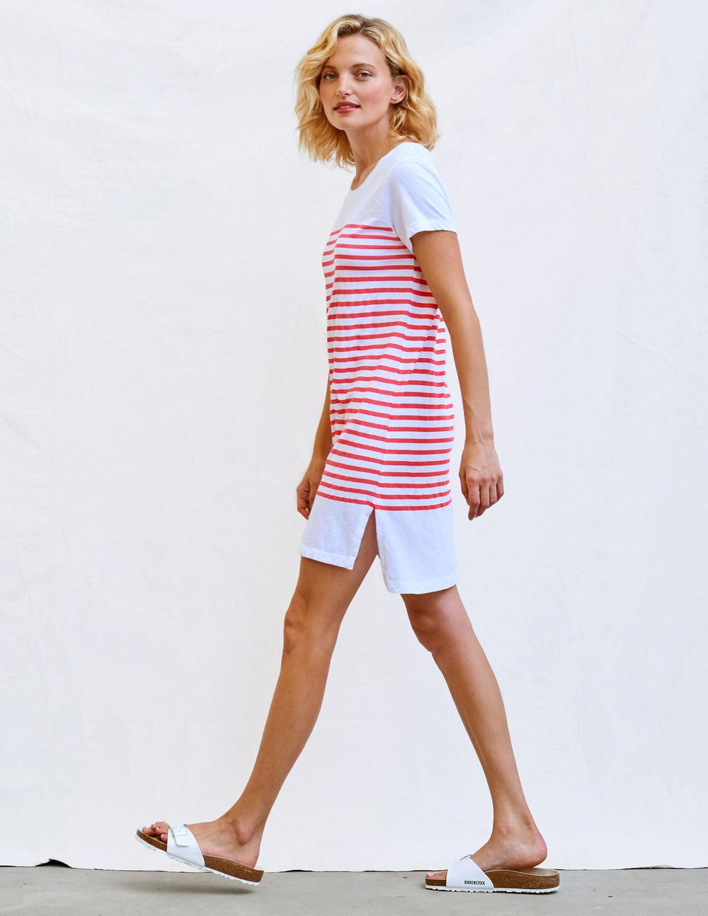 Stripes T-Shirt Dress - White