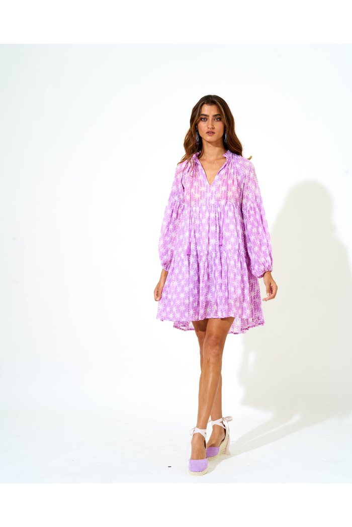Balloon Sleeve Dress - Lilac