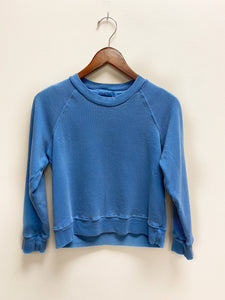 French Terry Baby Raglan Sweatshirt In Pacific