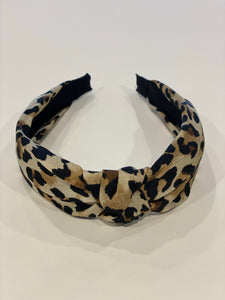 Top Knot Headband - Leopard