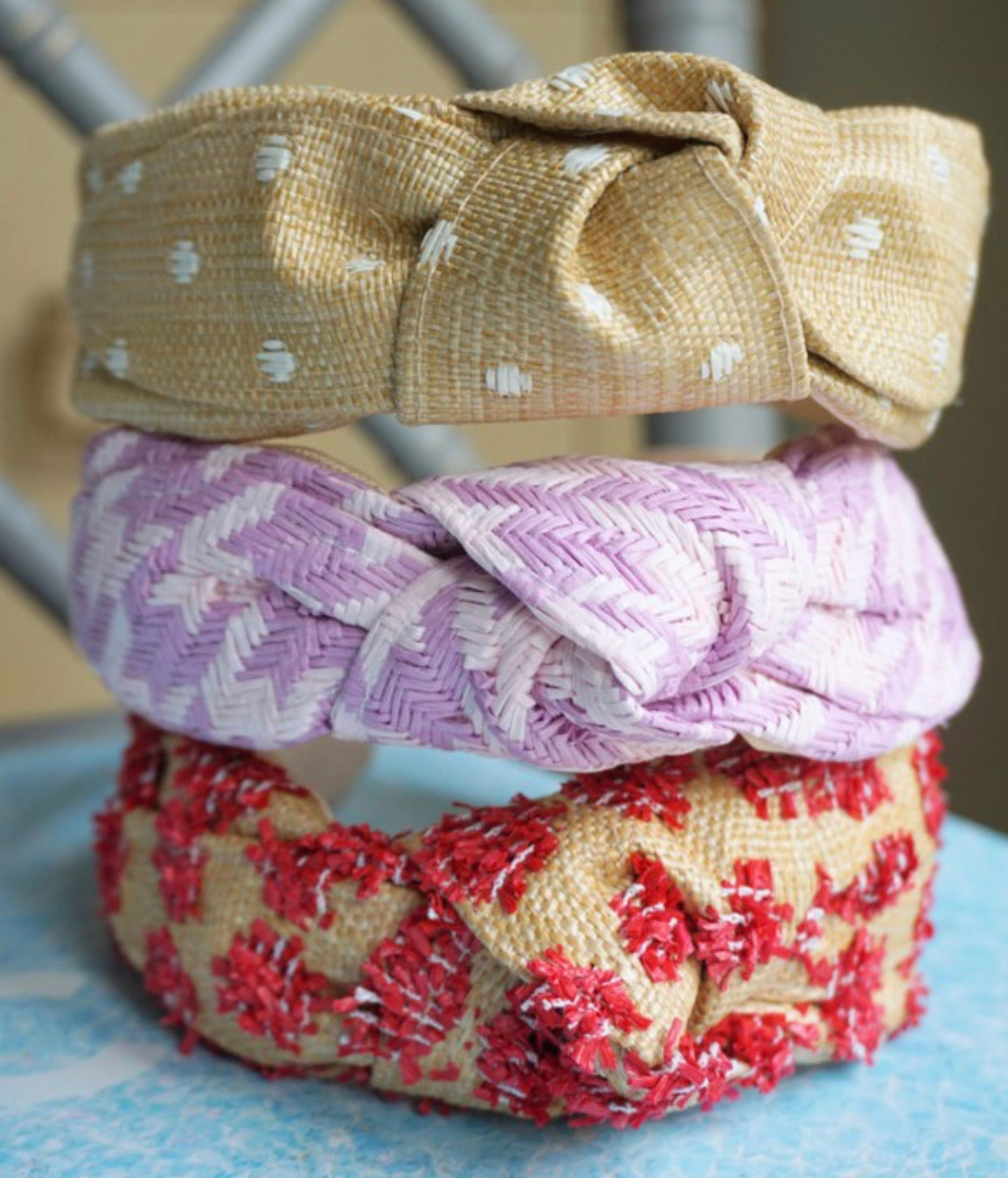 Top Knot Headband - Polka Dot
