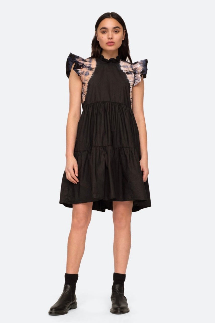 Daria Dye Flutter Tiered Dress