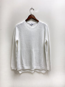Emma Shaker Sweater in White