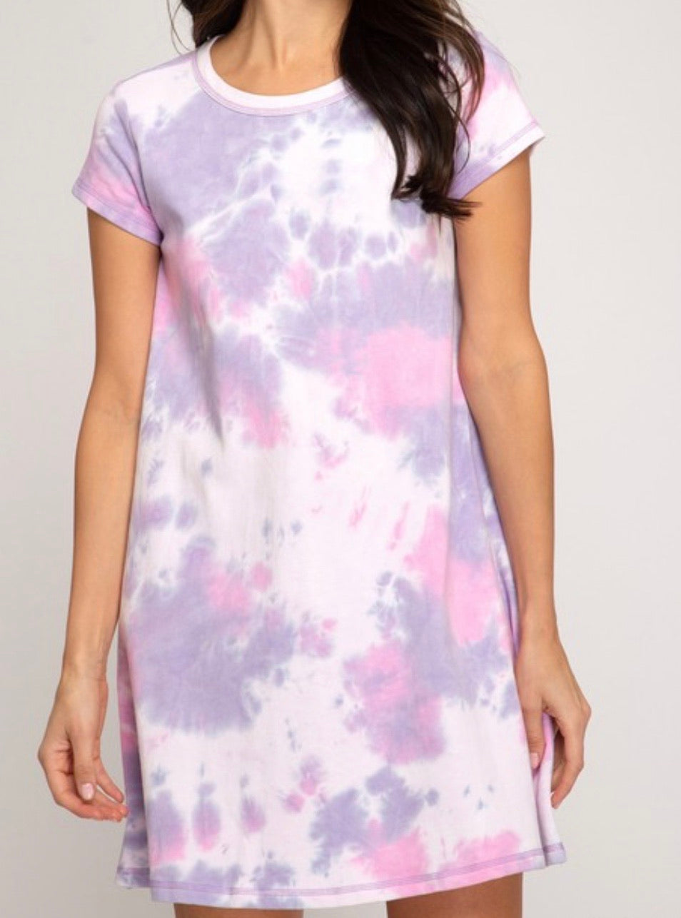 Tie Dye Dress - Lavender