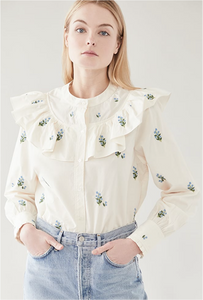 Evie Blouse - Bluebell