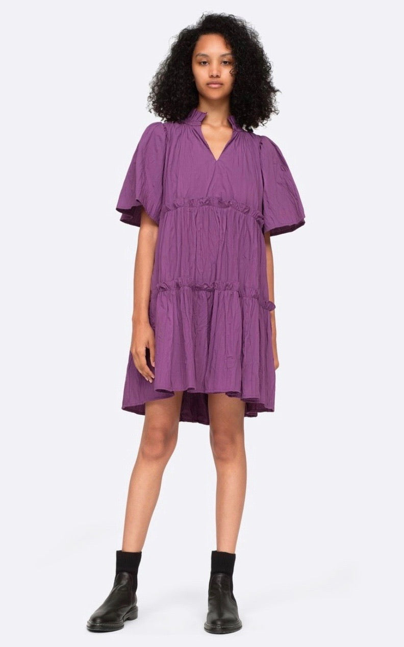 Tivoli Crinkle Dress in Iris