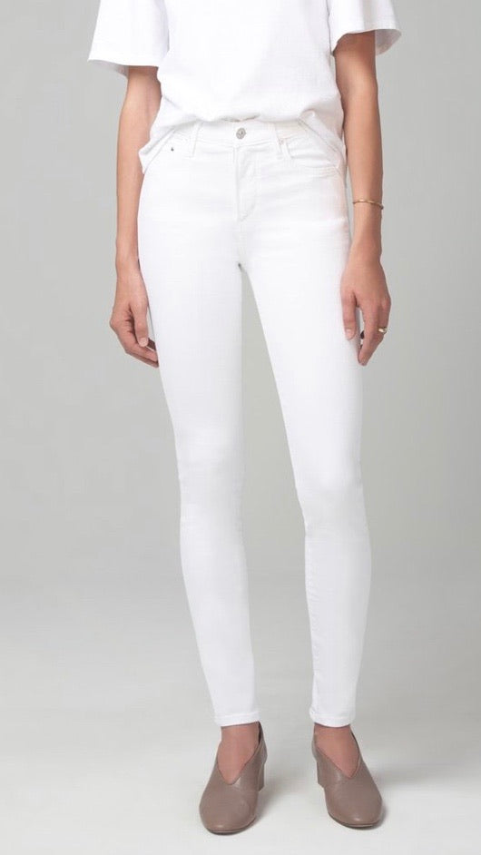 Rocket High Rise Skinny In White Sculpt