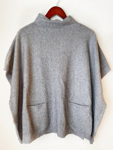 Gray Pocket Poncho