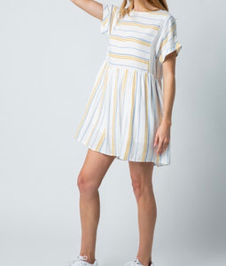 Striped Babydoll T Shirt Dress