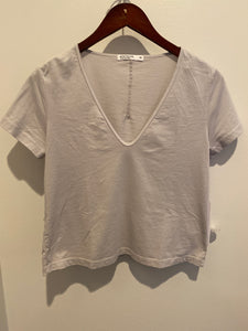 Supima U Neck Tee - Grey