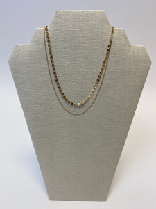 Gold Disc Layer Necklace